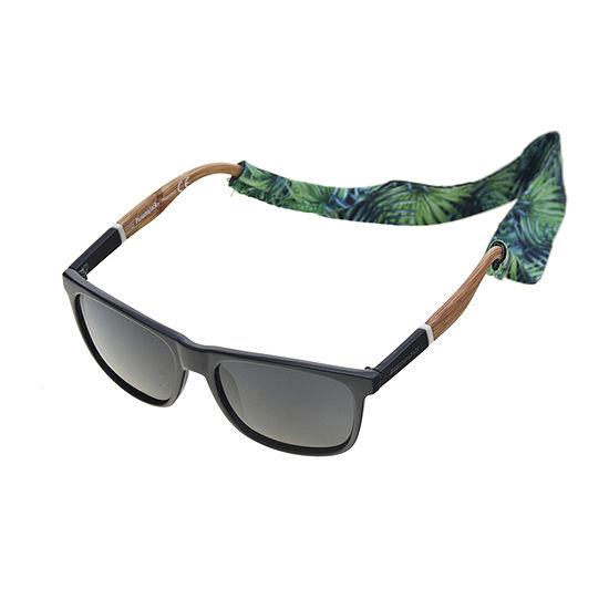 Panama Jack Mens Polarized Full Frame Square Sunglasses