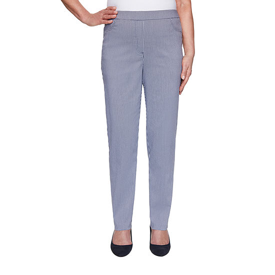 Alfred Dunner Petal Pushers Womens Straight Pull-On Pants
