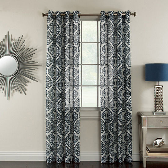 Miller Curtains Campbell Semi-Sheer Grommet-Top Curtain Panel