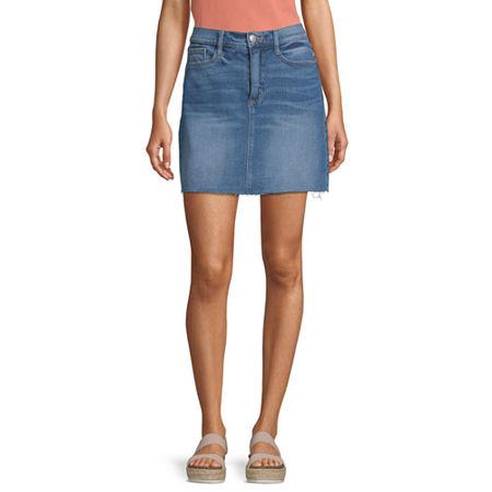 a.n.a Womens Mid Rise Denim Skirt, 12 , Blue