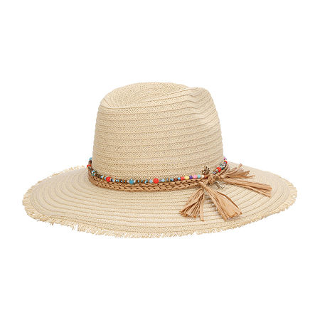 Hippie Hats,  70s Hats Scala Safari Hat One Size Fits Most  White $36.00 AT vintagedancer.com