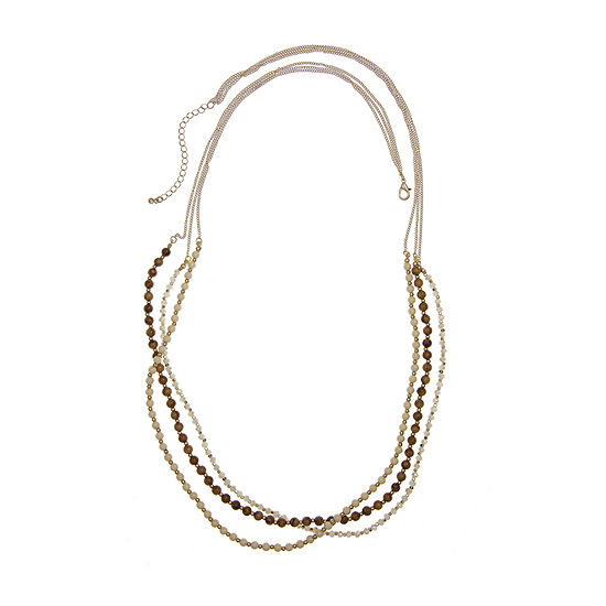 Mixit 36 Inch Curb Beaded Necklace