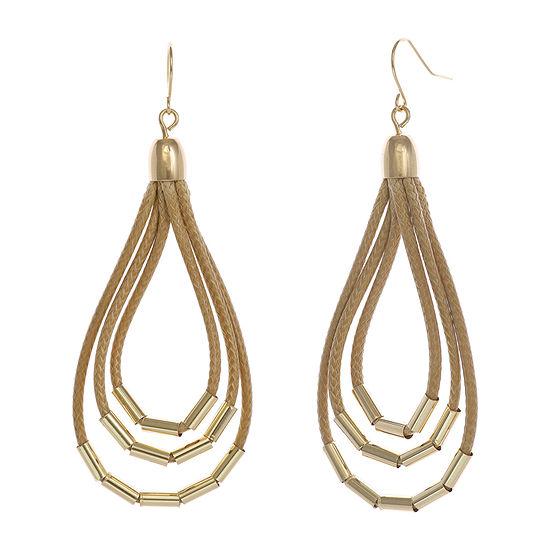 Mixit Tan Drop Earrings