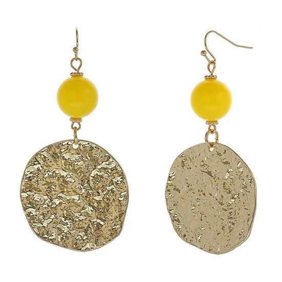 EL by Erica Lyons Yellow Drop Earrings
