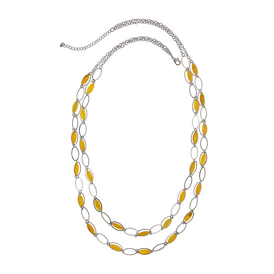 Mixit Yellow 35 Inch Cable Beaded Necklace