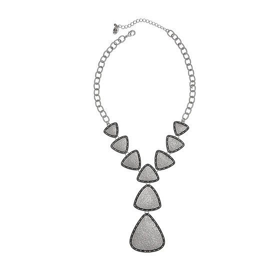 EL by Erica Lyons Silver Tone 18 Inch Cable Statement Necklace