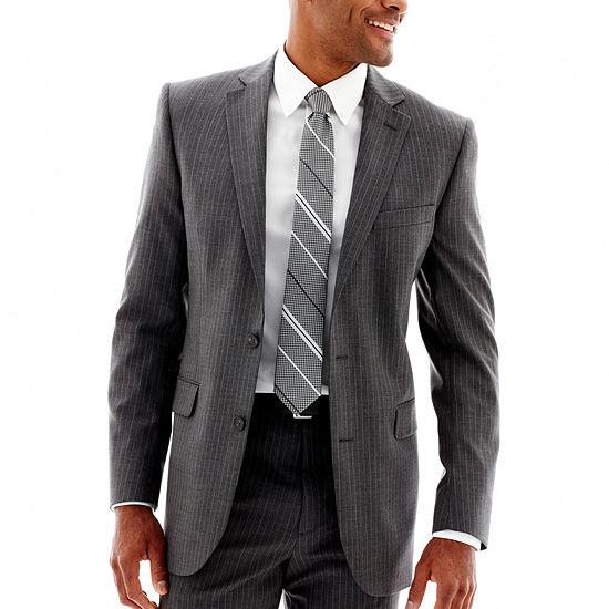 Stafford® Gray Pinstripe Suit Jacket
