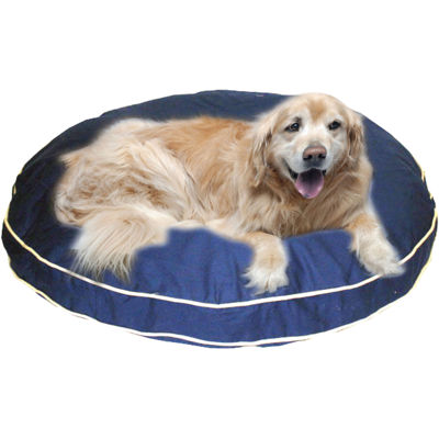 Carolina Pet Co. Classic Twill Round-A-Bout Round Pet Bed