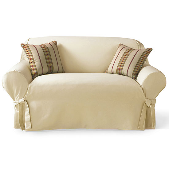 Sure Fit Cotton Duck 1 Pc Loveseat Slipcover