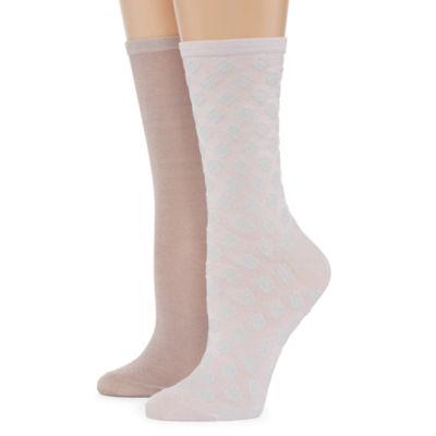 Mixit 2 Pair Crew Socks - Womens
