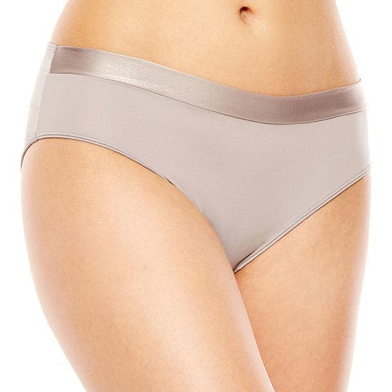 Ambrielle® Sparkle Trim Seamless High-Cut Panty