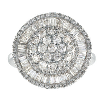 Womens 2 CT. T.W. White Diamond 14K Gold Cocktail Ring