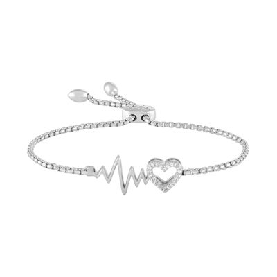 Fine Jewelry Rhythm & Muse Womens Diamond Accent Sterling Silver Bolo Bracelet INg006A