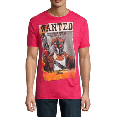 Star Lord Wanted Short Sleeve Marvel Graphic T-Shirt