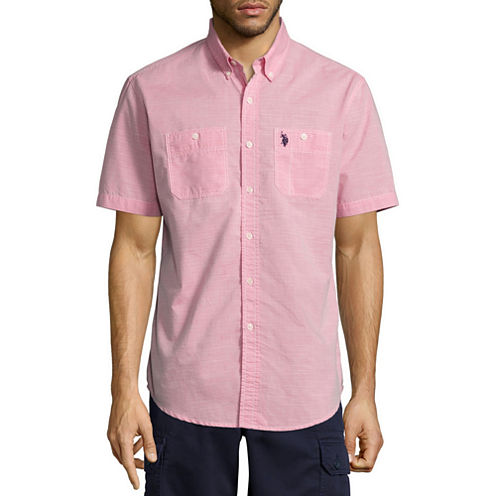 U.S. Polo Assn. Short Sleeve Button-Front Shirt