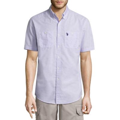U.S. Polo Assn. Short Sleeve Button-Front Shirt