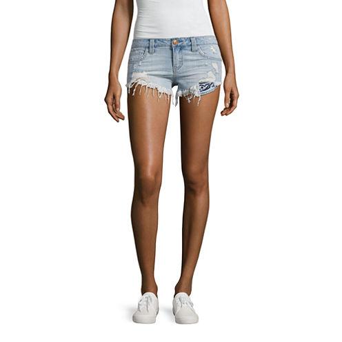 "Almost Famous 2 1/2"" Denim Shorts-Juniors"