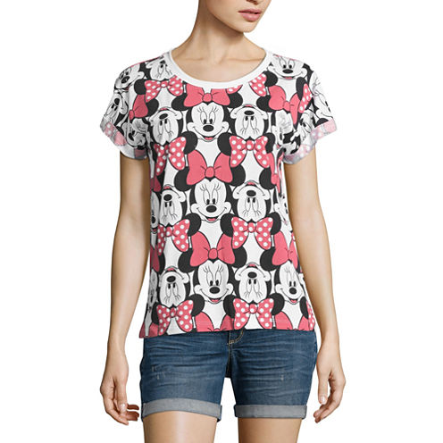 Minnie Mouse Graphic T-Shirt- Juniors