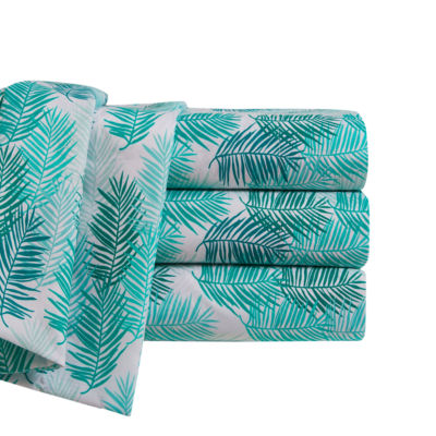 By The Seashore Microfiber Blue Tropics Sheet Set