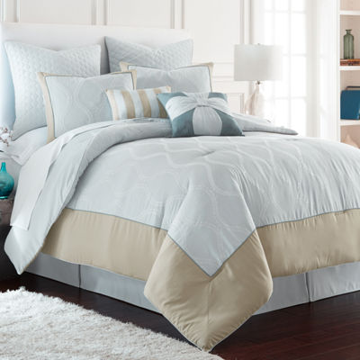St. Tropez 8-pc.Embroidered Comforter Set