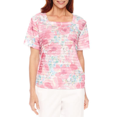 Alfred Dunner Tiered Bright Floral Top