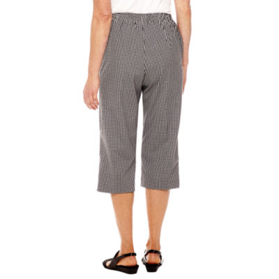 Alfred Dunner Garden Gingham Party Capris