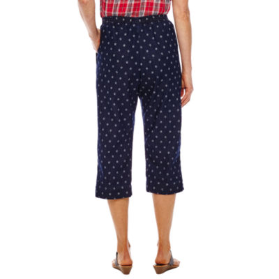 Alfred Dunner Lady Liberty Star Print Capris
