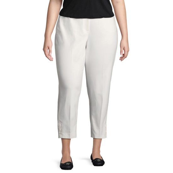 Lark Lane Cote D'Azur Double Face Stretch Ankle Pant- Plus