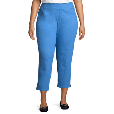 Lark Lane Je T'aime Pull On Extra Stretch Ankle Pant- Plus