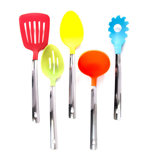 Gibson 5 pc Multicolored Kitchen Tool Set