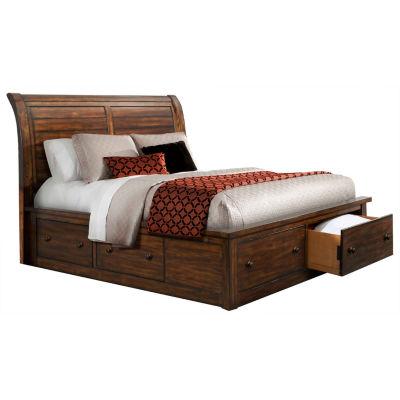 Aspen Creek Rustic Storage Bed
