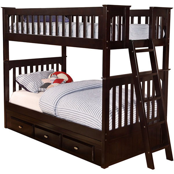 Braeburn Twin-Over-Twin Bunk Bed with Storage Drawers
