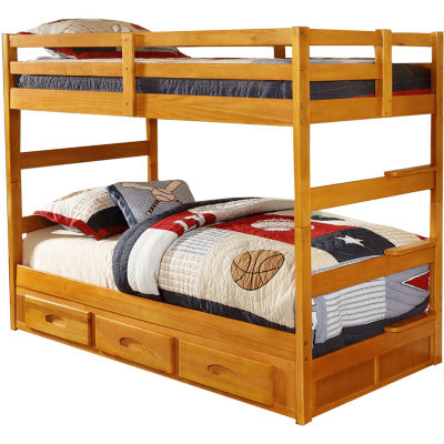 Grant Twin-Over-Twin Bunk Bed with Built-in Storage Drawers