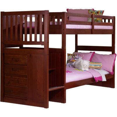 Springside Twin-Over-Twin Staircase Bunk Bed