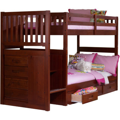 Springside Twin-Over-Twin Staircase Bunk Bed with Storage