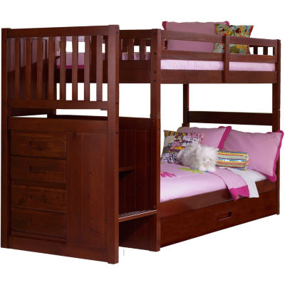 Springside Twin-Over-Twin Staircase Bunk Bed with Trundle