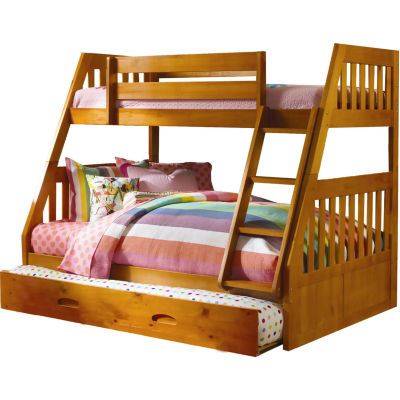 Stanford Twin-Over-Full Bunk Bed with Slide-out Trundle
