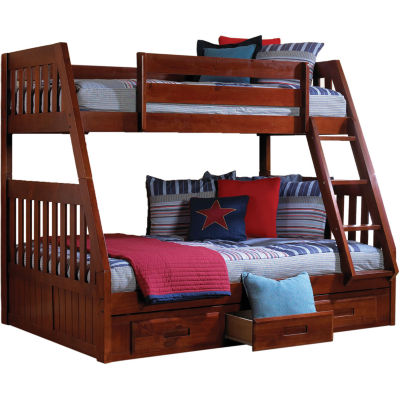 Stanford Twin-Over-Full Bunk Bed with Storage