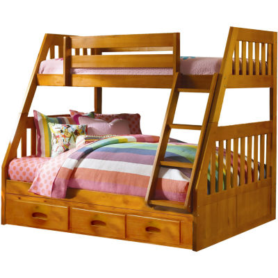 Stanford Twin-Over-Full Bunk Bed with Storage Drawer Attachment