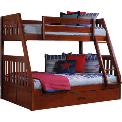 Stanford Twin-Over-Full Bunk Bed with Twin Trundle