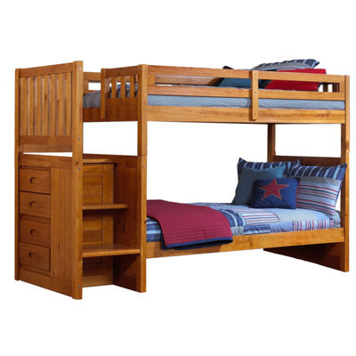 Twin-Over-Twin Staircase Bunk Bed