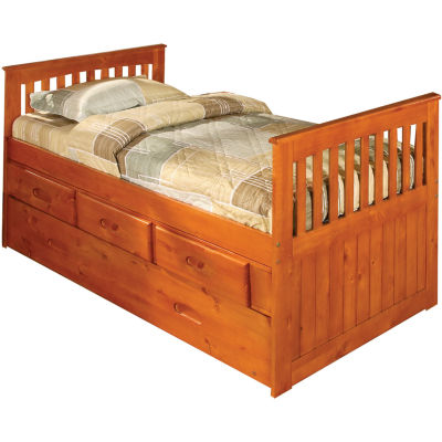 Hillcrest Twin Trundle Storage Bed