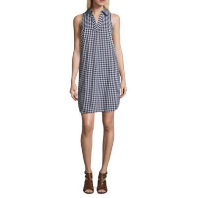 Spense Sleeveless Collared Shirt Dress