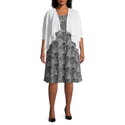 Perceptions Sleeveless Jacket Dress - Plus