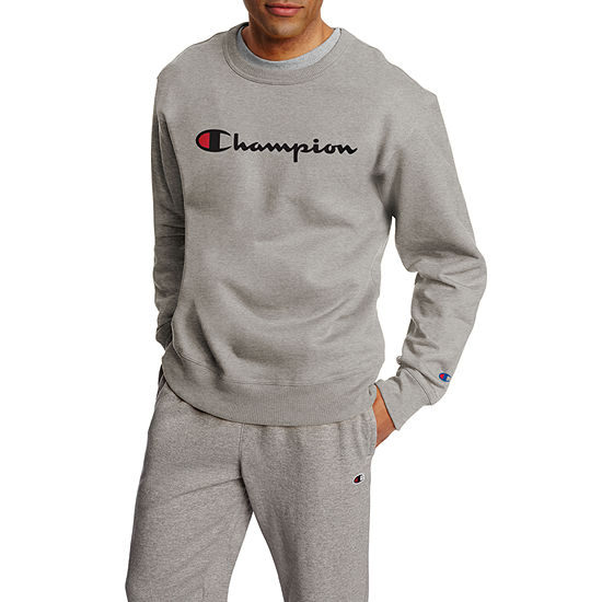 Champion Powerblend Mens Crew Neck Long Sleeve Sweatshirt