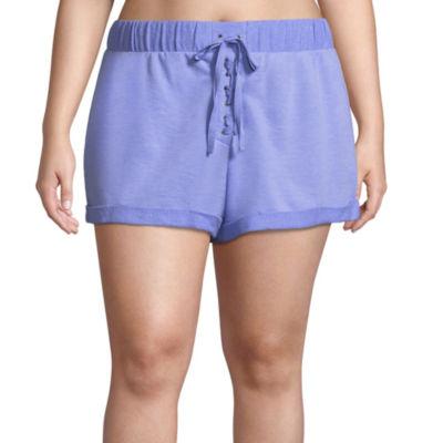 Flirtitude Knit Pull-On Shorts-Juniors Plus