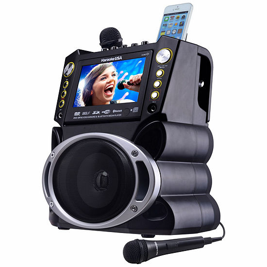 "DVD/CDG/MP3G Karaoke Machine with 7"" TFT Color Screen with Record and Bluetooth"