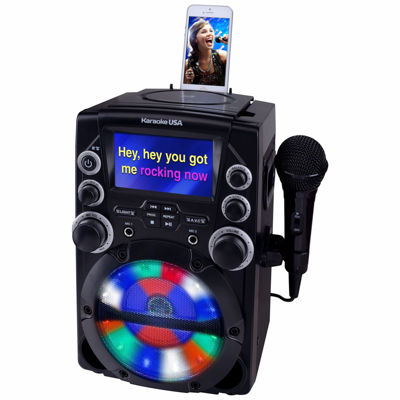 "CD+G Karaoke System with 4.3"" Color TFT Screen"