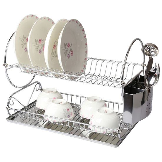 Megachef Chrome Plated 175 Inch Two Shelf Dish Rack