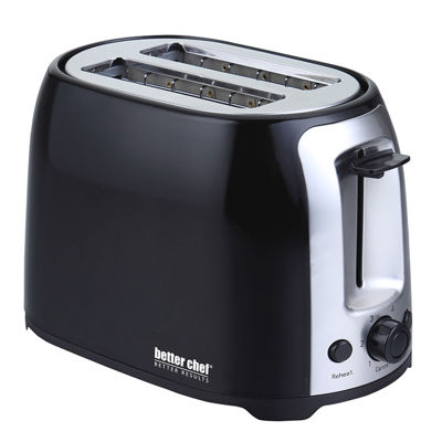 Better Chef Cool Touch Wide-Slot Toaster- Black